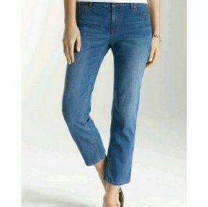 (C4) J. Jill Authentic Fit Crop Jeans